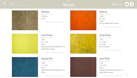 Whistler Leather Collections