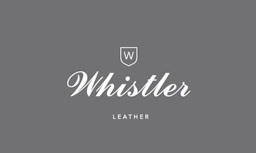 WL Whistler Leather White Logo Against Grey Final